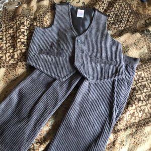 Gymboree size 2T corduroy pants and vest worn 1X